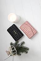 Шкіряний жіночий клатч-гаманець Miu Miu / Жіночий клатч з натуральної шкіри, колір чорний