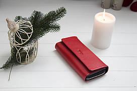 Шкіряний жіночий гаманець Karya / Жіночий гаманець з натуральної шкіри червоний