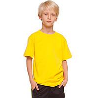 Футболка спортивная детская размер L-XL 7-11лет Желтый L (7-8лет) PZ-CO-4490B_1