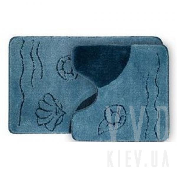 Набор ковриков для ванной Abisal синий 50x80+50х50 см