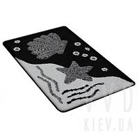 Набор ковриков для ванной Deniz черно-белый 60x100+60х50 см