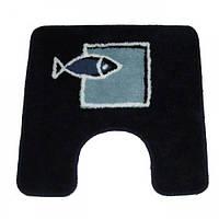 Коврик для туалета Spirella ANDROS 50х50см синий