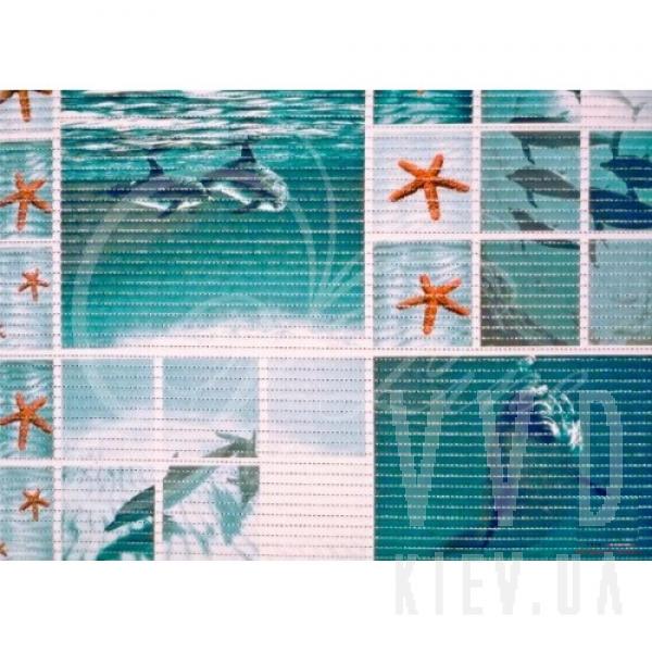 """Коврик для ванной """"Дельфины"""" 65х100 см"""