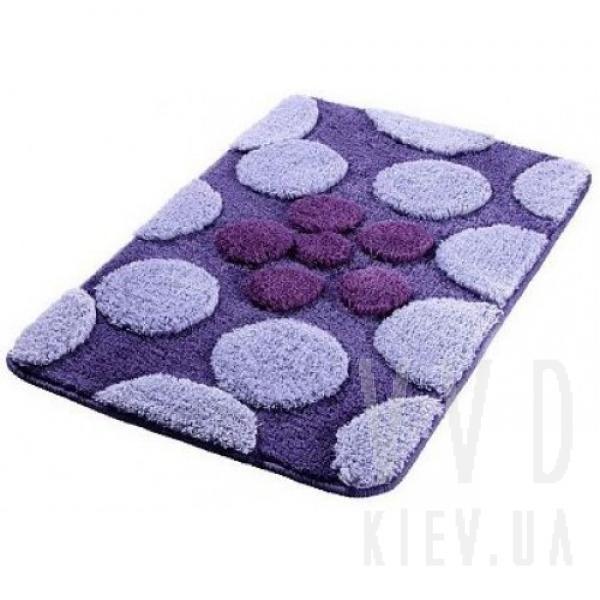 Коврик для ванной Dots фиолетовый 50x80 см