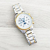 Longines Master Collection Moonphases Steel Silver-Gold-White