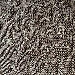 Паутинка Пастели Оренбурга, Ш-00104, цвет жемчужно-серый, оренбургский платок (паутинка), фото 4