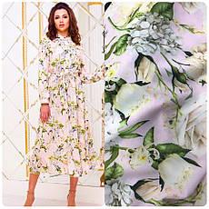 Платье мелкие цветы основа пудра от YuLiYa Chumachenkо