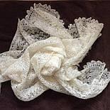 Шаль Метелица Ш-00050, белый, оренбургский платок (шаль), фото 6