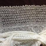 Шаль Метелица Ш-00050, белый, оренбургский платок (шаль), фото 7