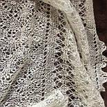 Шаль Метелица Ш-00050, белый, оренбургский платок (шаль), фото 8