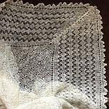 Шаль Метелица Ш-00050, белый, оренбургский платок (шаль), фото 4