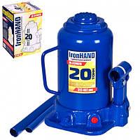 Домкрат бутылочный 20т VITOL IronHand IH-317407D (в картоне)