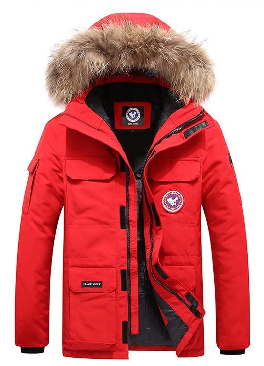 В стиле Canada Goose Expedition parka Мужской пуховик экспедишн парка канада гус