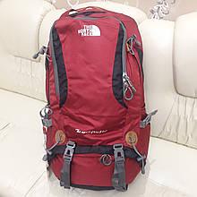 Рюкзак походный The North Face 50 литров  красный большой