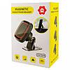Автомобильный магнитный держатель для смартфонов Hoder Magnetic Mobile Phone Bracket H-CT219 Черный с красным, фото 7