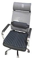Ортопедические подушки EKKOSEAT на офисное кресло руководителя (комплект). Черная