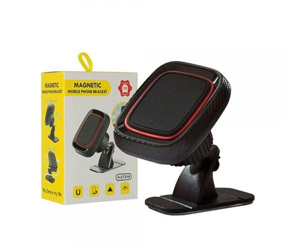 Автомобильный магнитный держатель для смартфонов Hoder Magnetic Mobile Phone Bracket H-CT219 Черный с красным