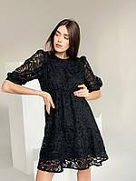 Гипюровое платье с завышенной талией