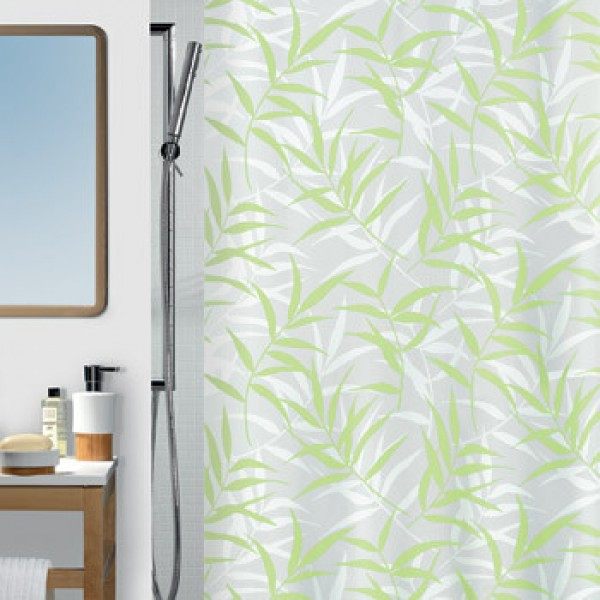 Шторка для ванной текстильная Spirella CANE зеленый 10.10410