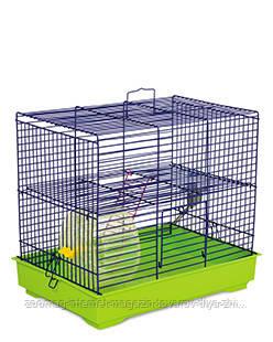 Клетка «Микки с колесом» для мелких грызунов (синий/зеленый), Природа™
