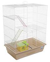 Клетка «Нюра» для мелких грызунов (белый/бежевый), Природа™