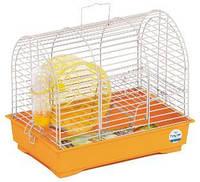 Клетка «Фаворит с колесом» для мелких грызунов (белый/фиолетовый), Природа™