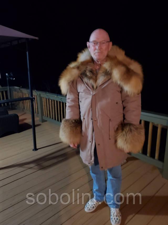 чоловіче пальто з хутром