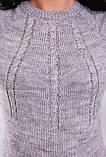 В'язане плаття 137 темно-сірий, фото 3