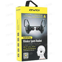 Влагозащищённые беспроводные наушники AWEI A847 BL Bluetooth(Блютуз)