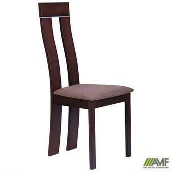 Обеденный стул Лестер орех темный/ткань коричневая AMF