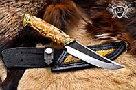 """Нож ручной работы """"Золотая лихорадка"""" 130х35х4мм с ручкой из гибрид"""