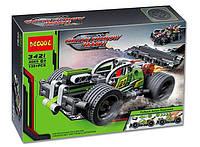 Конструктор Зеленый гоночный инерционный автомобиль Green Shadow Decool