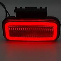 Фонарь габаритный светодиодный красный неон прямоугольник