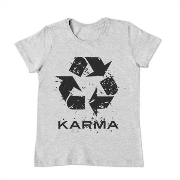 Футболка Карма серая, женская