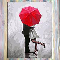 "Картина по номерам, холст на подрамнике, Люди ""Поцелуй"" 40*50 см, без коробки"