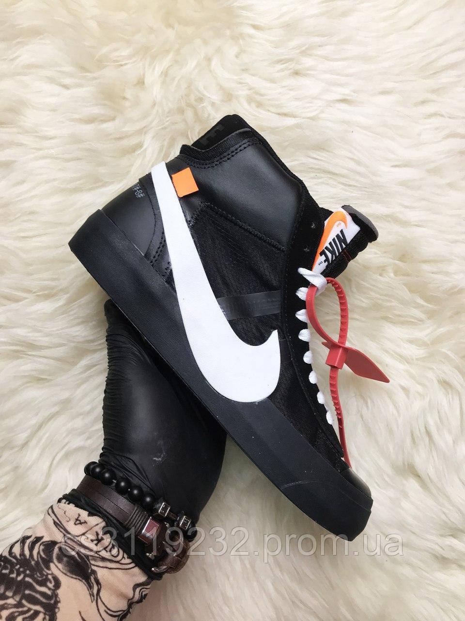 Чоловічі кросівки Nike Blazer Mid Black (чорні)