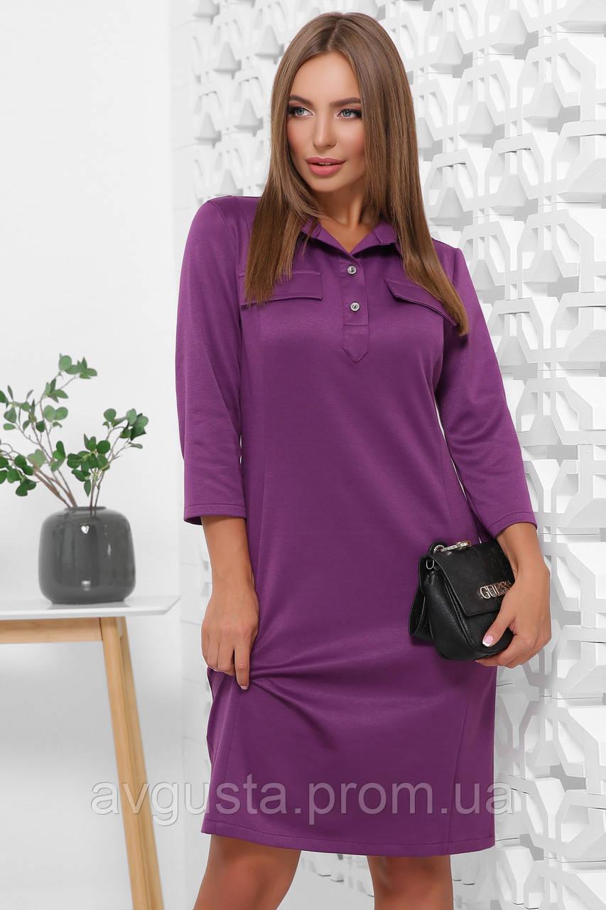 Платье 1844 фиолетовый