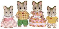 Набор Сильваниан Фэмилис семья Полосатых котов Sylvanian Families Striped Cat Family
