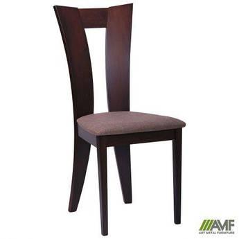 Обеденный стул Бристоль каркас орех темный/обивка коричневая AMF