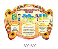 Стенд - Державна символіка України (без кишень)