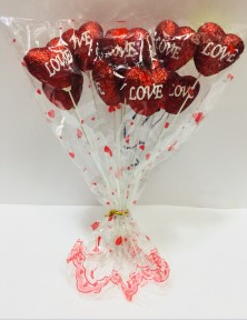 Сердце на палочке (подарок на день Святого Валентина)