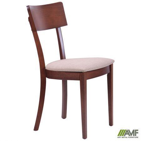 Обеденный стул Клайд орех светлый/ткань бежевая AMF