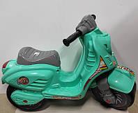 Толкар мотоцикл арт 501,скутер арт 502 бирюзовый,.