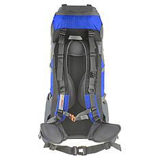 Рюкзак туристический TANLUHU 80х32х24 55+5л голубой Polyester Oxford Rip Stop PU 600D/1600D кс627гол, фото 3