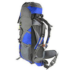 Рюкзак туристический TANLUHU 80х32х24 55+5л голубой Polyester Oxford Rip Stop PU 600D/1600D кс627гол, фото 2