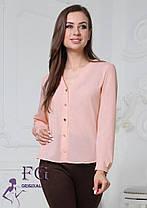 Женская стильная блузка софт вырез декольте, фото 3