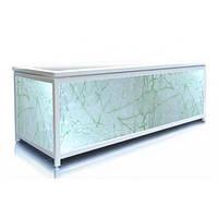 Экран под ванну 130 см, зеленая акварель, пластиковый каркас