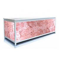 Экран под ванну 130 см, розовый лед, пластиковый каркас