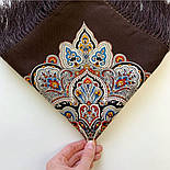 Соловушка 1893-17, павлопосадский платок шерстяной  с шелковой бахромой, фото 6