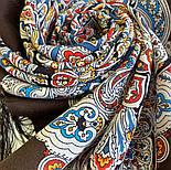 Соловушка 1893-17, павлопосадский платок шерстяной  с шелковой бахромой, фото 4